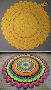 Crochet Doormat Diy Crochet Mandala Rug Artistic Patterns The Whoot