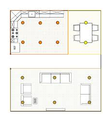 Kitchen Recessed Lighting Layout by Recessed Lighting Where To Put Recessed Lighting In Living Room