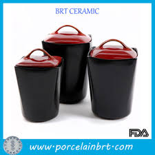 red lid black unique kitchen canisters set buy unique kitchen