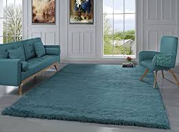 Teal Shag Area Rug Amazon Com Modern Shag Area Rug Living Room And Bedroom Shaggy