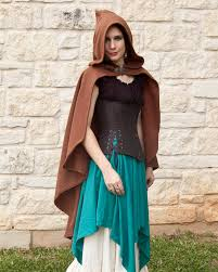 brown rogue cape renaissance clothing halloween costume