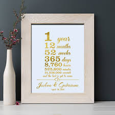 1st wedding anniversary gifts 1st wedding anniversary gift 1 year together for husband