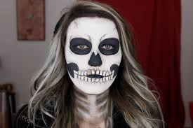 easy skeleton makeup tutorial halloween 2015 youtube