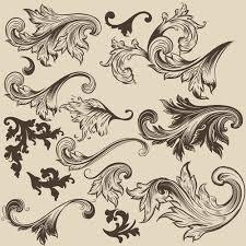 floral swirl ornament design vector 04 welovesolo