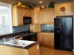 excellent small kitchens designs with pine wooden kitchen cabinet