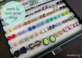 how to make an earring holder for studs best 25 stud earring organizer ideas on stud for