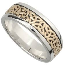 mens celtic wedding bands wedding band 10k gold and sterling silver mens celtic