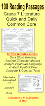 literacy u0026 math ideas 100 reading passages grade 7 daily common