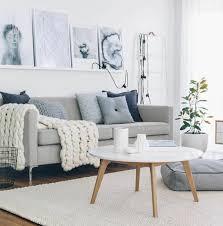 deco canapé gris déco salon salon gris et blanc modèle de salon scandinave couleur