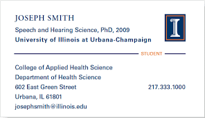 student business card student business cards business cards identity standards illinois
