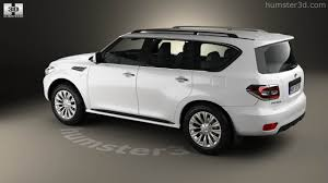 nissan patrol 2016 white 360 view of nissan patrol cis 2014 3d model hum3d store