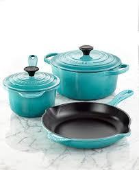 cast iron enamel cookware le creuset signature enameled cast iron 5 piece cookware set so