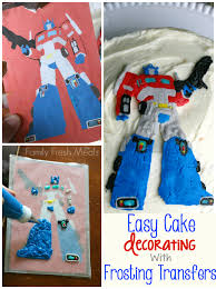 transformers cake decorations easy cake decorating with frosting transfers family fresh meals