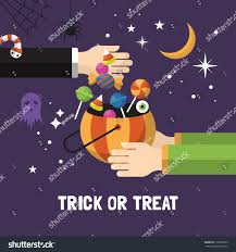 halloween trick treat card design vector stock vector 310906559