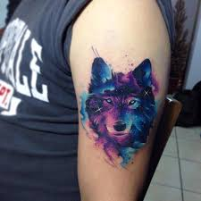 wolf on the left arm