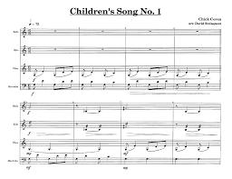 corea childrens songs no 3 keyboard percu j w pepper
