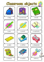 classroom objects worksheet by nataly
