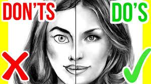 do u0027s u0026 don u0027ts how to draw a face step by step drawing tutorial