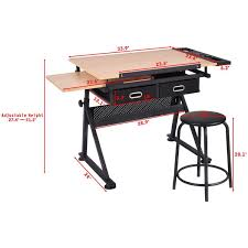 Drafting Table And Desk Costway Rakuten Costway Adjustable Drafting Table Craft