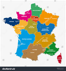 Maps Of France by Administrative Map 13 Regions France Since Stock Vector 498521839
