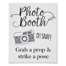 photo booth sign booth decoration posters zazzle
