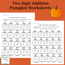 two digit addition pumpkin worksheet facebook png