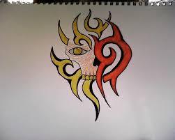 tribal skull tattoo design by mcrgda7x on deviantart