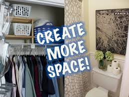 space saving ideas closet u0026 bathroom makeover youtube