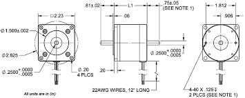 23d standard round stepper motors