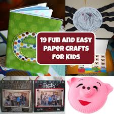 19 fun and easy paper crafts for kids favecrafts com