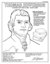 thomas jefferson coloring page coloring books american presidents