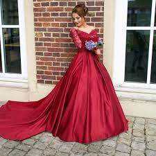 burgundy prom dresses 2017 long sleeves a line long prom dress