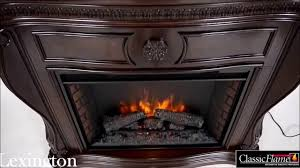 lexington fireplace suite in empire cherry with 33 u201d infrared