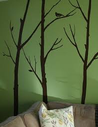 Living Room Wall Art Ideas Great Wall Art Idea With Trees Judy Could Paint This In My Bedroom