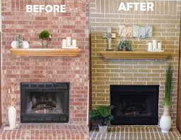 Living Room Designs With Red Brick Fireplace Cheap Easy Fireplace Makeover Concrete Stain Got Rid Of My Ugly