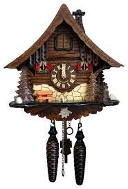 engstler battery operated cuckoo clock size traditional