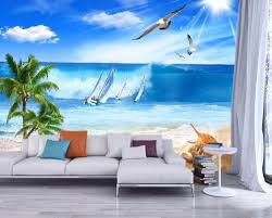 Wallpaper For Living Room Online Get Cheap Wallpaper Seaside Aliexpress Com Alibaba Group