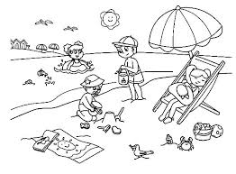 beach coloring pages preschool coloring pages for summer preschool coloring pages summer summer