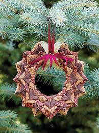 wreath ornament fabric folding origami wreaths