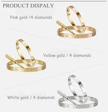 size cartier bracelet images Cartier love bracelet with 4 diamonds for men and women van jpg