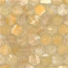 honey onyx hexagon mosaic polished tiles box of 10 sheets