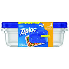 ziploc 2 25 qt large rectangle storage container 70941 the home