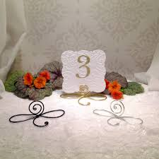 wedding table number holders 25 large wire infinity bow table number holders black gold and