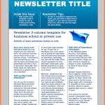 8 word newsletter template free download newsletter template