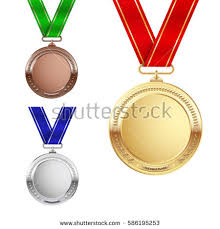 set of gold set gold silver bronze medals stock vector 588036107