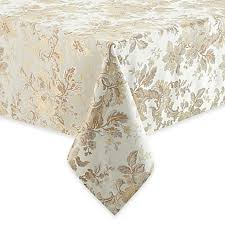 Bed Bath And Beyond Christmas Tablecloths Waterford Linens Marcelle Tablecloth In Ivory Bed Bath U0026 Beyond