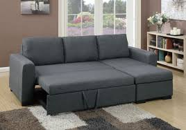 Sectional Sofa With Storage Poundex F6931 2 Pcs Blue Grey Fabric Storage Chaise Sectional Sofa