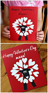 Hand Crafts For Kids To Make - heart shaped sheep valentine craft idea heart shapes sheep and