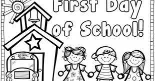 first day first grade coloring sheet perfect coloring first day