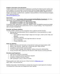 Medical Assistant Job Description For Resume by Sample Medical Assistant Job Dutie 7 Documents In Word Pdf